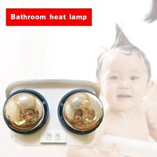 Bathroom Heater Lamp Ceiling Mount Wall Warmer Light Moisture Proof 2 Bulbs New