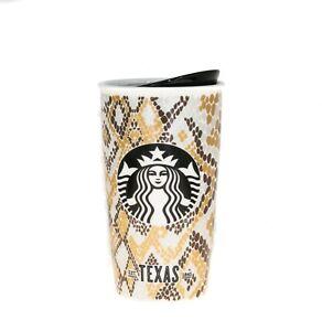 Starbucks Texas Snake Scales Siren Ceramic Traveler Tumbler Coffee Mug 12oz 2015