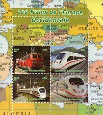 Madagascar 2015 MNH Eastern European Trains 4v M/S Railways Rail Stamps