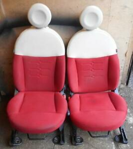 FIAT 500 POP SEATS CLOTH RED AND CREAM