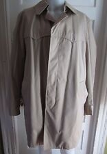 NOS Mens Star Sportswear 40L Trench Coat Western Placket Front Pile Plaid Lined
