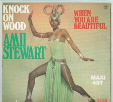 MAXI 45 tours Amil STEWART Disque KNOCK ON WOOD - CARRERE 8.042 Frais Reduit