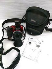 Nikon COOLPIX B500 16.0MP Digital Camera W/ Lens Cap Red W/Bag,Manual & SD Card