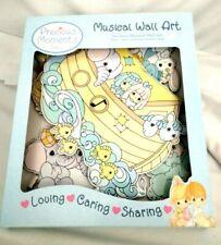 Noahs Ark Baby Nursery Musical Wall Art Decorations Precious Moments 6pc Set