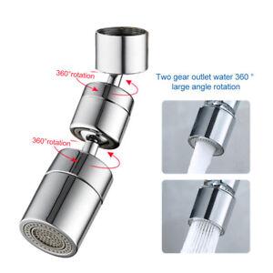 360° Swivel Kitchen Tap Head Water Saving Filter Bubbler Faucet Aerator Extender