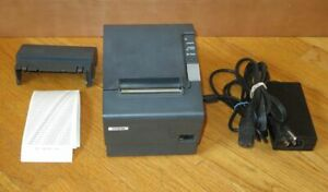 Epson M129H TM-T88IV PARALLEL Thermal POS Receipt Printer + Power Supply