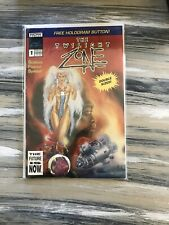 The Twilight Zone # 1, Now Comics W/hologram Button Science Fiction Special