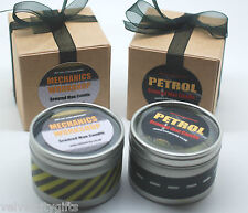 2 Man Candles Gift Petrol & Motor Oil Scented Candles for Men Unusual Gift (Med)