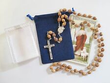 Beautiful Rosary with Olive Wood Beads From Holy Land, Rosary Box Included