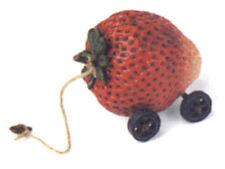 Boyds Bear Tug Along Patchbeary (Strawberry) #654241 Retired Nwt!