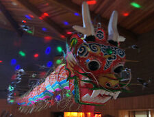 "as-is DRAGON KITE feathers 20"" BIG head 800"" TAIL Parade Asian restaurant PARTY"