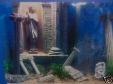 "Fish Tank Aquarium Greek Ruins Background 19"" Tall x 2ft Wide"