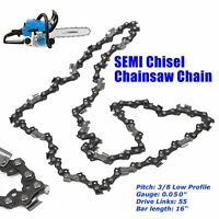 "16"" Chainsaw Saw Chain Blade Saws For Stihl 3/8"" LP .050 Gauge Poulan 55DL LINK"