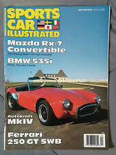 SPORTS CAR ILLUSTRATED MAGAZINE 1988 APRIL MKIV COBRA BMW 535 RX7 FERRARI 250GT