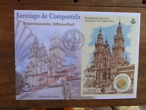 SPAIN 2018 UNESCO WORLD HERITAGE SANTIAGO DE COMPOSTELA LARGE FIRST DAY COVER
