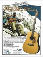 The Blueridge BR-160 acoustic guitar 8 x 11 ad with Martin Harley on Mt. Everest
