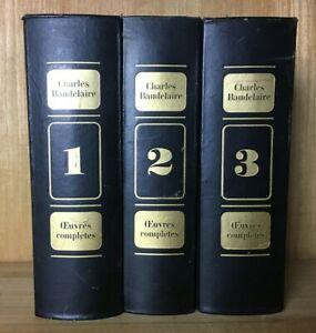 Baudelaire oeuvres complètes 3 volumes numérotés16 - 1966 Club Français du Livre