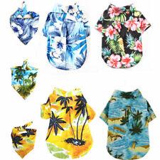 Pet Dog Shirt Hawaiian Beach Floral Print Puppy T Shirt Dog Costume Cat Vest Bib
