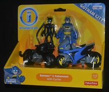 BATMAN & CATWOMAN with CYCLES Imaginext DC Gotham City MIP