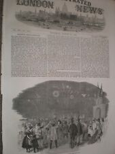 return of Emperor Franz Josef I to Austria 1852 print ref AV