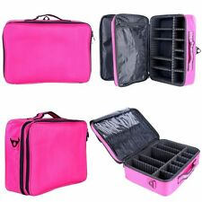 Makeup Cosmetic Case Beauty Artist Box Storage Tool Brushes Bag Organizer (RED)