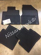 NEW OEM 2009-2014 NISSAN MURANO ALL WEATHER RUBBER FLOOR MAT SET (4PC) BLACK