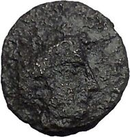 Histiaia in Euboia 338BC Nymph & Cow Genuine Authentic Ancient Greek Coin i50356
