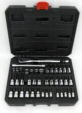 "NEW Craftsman 42 pc 1/4"" & 3/8in Dr. Hex, Star & Torx Bit Socket Wrench Tool Set"