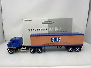 1/34 First Gear 1953 Kenworth Bull Nose Gulf Truck & Trailer VERY RARE 19-1727