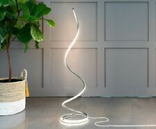 Modern Floor Lamp LED Standing Living Room Bedroom Thin Spiral Curved Vertical