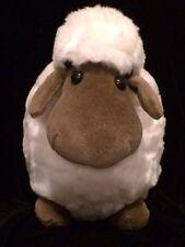The Cuddle Factory Plush Soft White Lamb Sheep Dark Tan Brown Face Hoofs 11