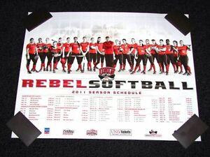 UNLV Rebels Softball 2011 Team NCAA Schedule Poster 20x16