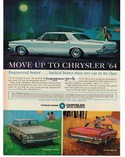 1964 Chrysler New Yorker Newport 300 art Automobile Car Vtg Print Ad