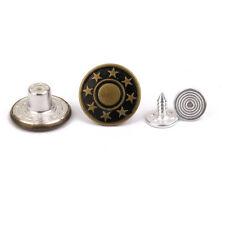 50x Brass Denim Jeans Waist Buttons Stud Hammer On 17mm For Repair Replacement