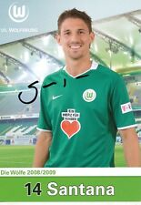 Jonathan Santana   VFL Wolfsburg  Fußball  Autogrammkarte  signiert 354188