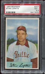 1954 Bowman Baseball #207 STAN LOPATA Philadelphia Phillies PSA 5.5 EX+