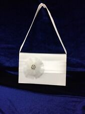Ivory Tulle Corsage Satin Holy Communion Bag, Bridesmaid/Flower Girl BN