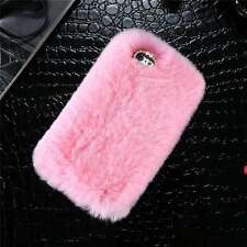 Phone Mobile Back Case Cover Ultra Luxury Warm Soft Comfy Rex Fluffy Fur Skin for iPhone 6s Plus Pink