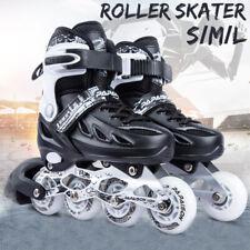 Kids Adults Roller Blades Inline Skates Adjustable Size w/Full Light Up Wheels