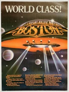 BOSTON 1979 vintage POSTER ADVERT DON'T LOOK BACK Tom Scholz WORLD CLASS