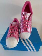Ladies ADIDAS Originals SUPERSTAR size 4.5 metallic pink TRAINERS new FREE POST