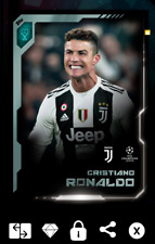 NEW Topps KICK 19 - CL Silver GC (2.5x) Cristiano Ronaldo (50cc)