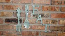 Shabby, Chic, Kitchen Decor Gift Ideas, Wall Decor, Cast Iron, Fork & Spoon, Eat