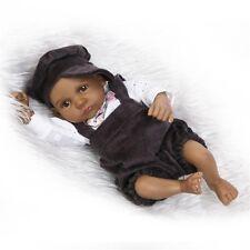 "10"" African American Black Reborn Baby Dolls Silicone Lifelike Gift for Children"