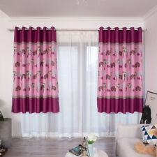 Window Curtain Lotus Leaf Print Room Balcony Door Blackout  Shade Drape Curtains