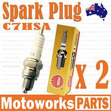 2x NGK C7HSA Spark Plug 110cc 125cc PIT PRO Trail Quad Dirt Bike ATV Buggy 001