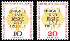 EBS West Berlin 1957 3rd German Bundestag in Berlin Michel 174-175 MNH**