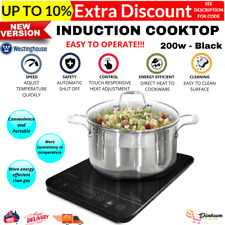 Westinghouse WHIC01K 2000W Induction Cooktop - Black