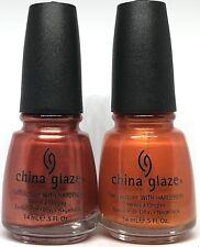 china glaze nail polish Street Racing 740 + Free Love 741 Fall Collection Orange