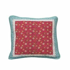 Dada Bedding Bohemian Fairy Floral Pink Blue Square Accent Pillow Cushion Covers